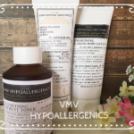 VMV ハイポアレルジェニクス は敏感肌・アレルギー肌・赤ちゃんも使えるドクターズコスメ!洗顔スクラブ・化粧水・保湿クリームをお試ししてみました。